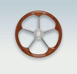 mahogany power boat steering wheel / racing
