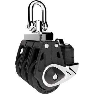 cam cleat block / ball bearing / triple / with swivel