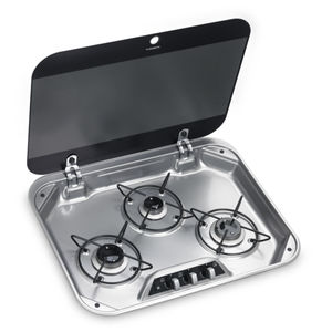 gas hob / for boats / three-burner / built-in