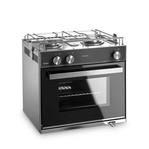 boat stove-oven / gas / two-burner / with grill