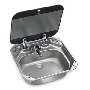 square sink / for boats / with glass lid