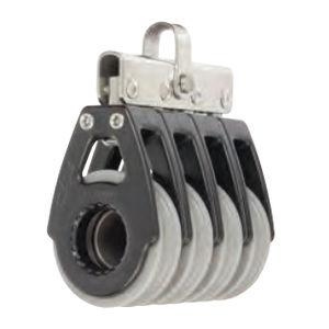 plain bearing block / quadruple / with fixed head / max. rope ø 12 mm