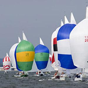 spinnaker / for one-design sailboats / cross-cut