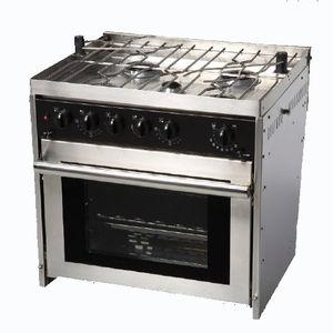 boat stove-oven / gas / five-burner / built-in