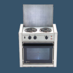 boat stove-oven / electric / two-burner / built-in