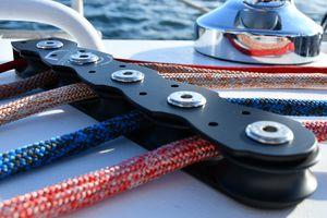 2-sheave deck organizer for sailboats