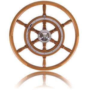 teak power boat steering wheel / mahogany / traditional