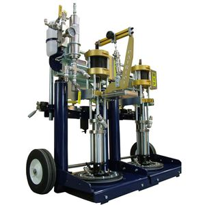 adhesive spraying machine / mobile / shipyard
