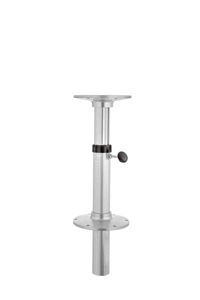 pneumatic boat table pedestal / adjustable / aluminum