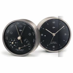 analog barometer / thermometer / brass / hygrometer