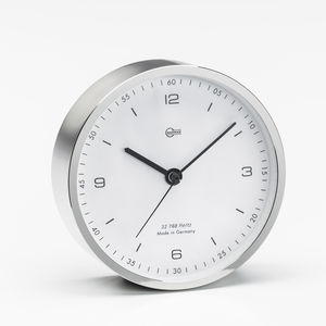 analog clock / chrome