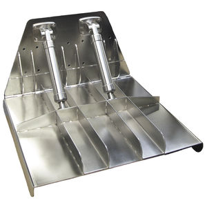 hydraulic trim tab / for boats / stainless steel