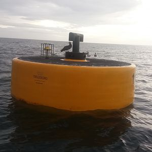 mooring buoy / for terminals / polyethylene / steel
