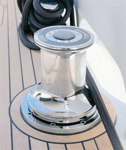 boat capstan / electric / with chrome-plated bronze base