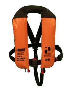 self-inflating life jacket / 300 N / with safety harness / professional