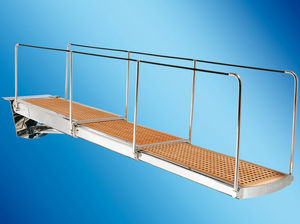 boat gangway / for yachts / telescopic / with handrails