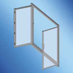 yacht door / for boats / with glass panel / stern