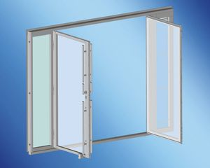 yacht door / for boats / stern / stainless steel