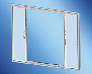 yacht door / for boats / sliding / with glass panel