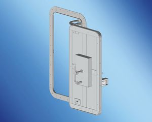 yacht door / for boats / pantograph / weathertight
