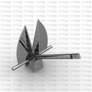 Danforth anchor / for boats / stainless steel