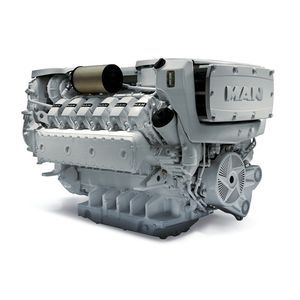 diesel ship engine / turbocharged / direct fuel injection / common-rail