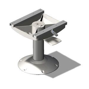 boat helm seat pedestal / adjustable / metal