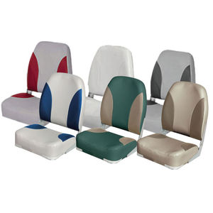 helm seat / for boats / folding backrest / 1-person