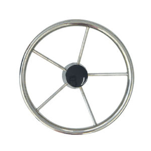 stainless steel power boat steering wheel / traditional