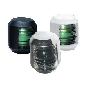 boat navigation lights / incandescent / green / stern