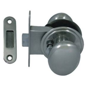 boat latch / push-knob / for doors / stainless steel