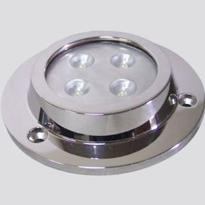 underwater boat light / LED / surface-mount / stainless steel