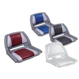 helm seat / for boats / fold-down / folding backrest