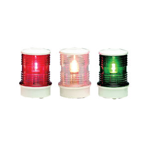 boat navigation lights / incandescent / three-color / stern