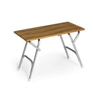 folding cockpit table / teak / aluminum