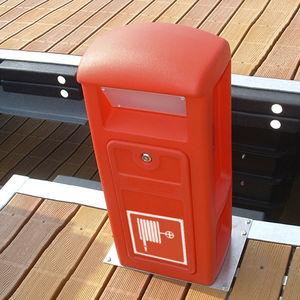 fire pedestal / with built-in light / for docks