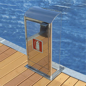 fire pedestal / water supply / for docks / stainless steel