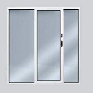 boat door / sliding / with glass panel / aluminum