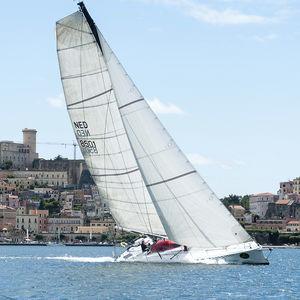 mainsail / for racing sailboats / cross-cut / radial cut