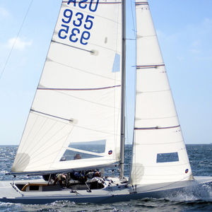 mainsail / for one-design sport keelboats / Etchells / radial cut
