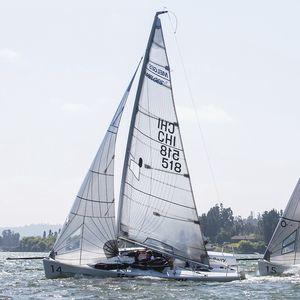 mainsail / for one-design sport keelboats / Melges 24 / cross-cut