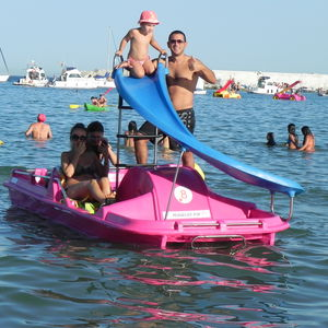 5-person pedal boat / with slide