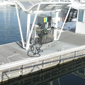 marina floating fuel dock