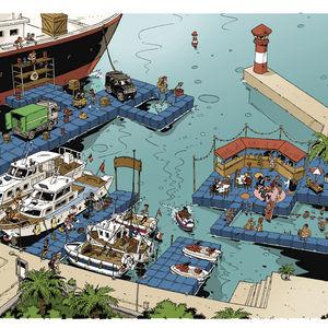 modular dock / mooring / jet-ski / for marinas
