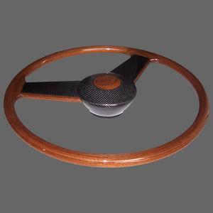 teak power boat steering wheel / racing