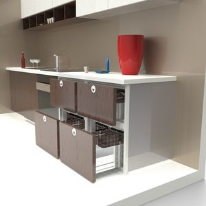 yacht refrigerator / built-in / compressor / stainless steel