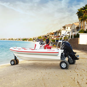 amphibious inflatable boat / outboard / rigid / center console