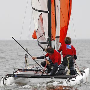 regatta sport catamaran / double-handed / children's / single-trapeze