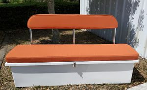 storage box with backrest