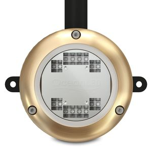 underwater dock light / LED / bronze / aluminum